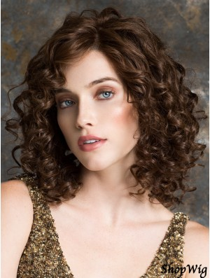Cheap Lace Front Wig With Bangs 100% Hand Tied Shoulder Length
