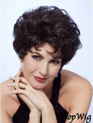 Lace Wigs Front Black Color Short Length Curly Style