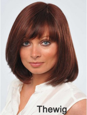 12 inch Fabulous Red Bobs Monofilament Wigs