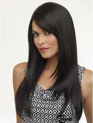 Black African Wigs Long Length Black Color Yaki Style