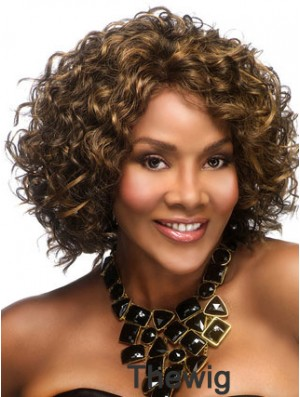 African Hair Styles With Capless Chin Length Curly Style Layered Cut