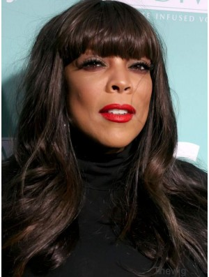 With Bangs Straight Black 20 inch High Quality Wendy Williams Wigs