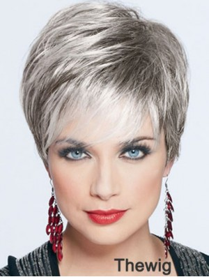Short Wigs For Lady With Capless Straight Style Cropped Length