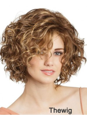 Lace Front Curly 11 inch Blonde Bob Cut Wigs